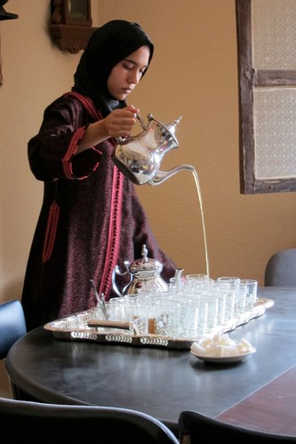 Lady Pouring Tea Morocco