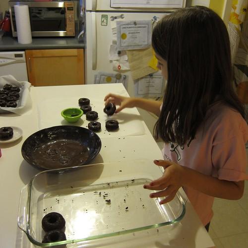 Sym Glazing Triple Chocolate Donuts