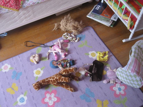 stuffed animal mess