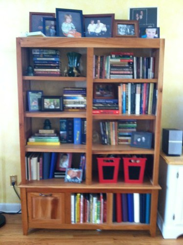 bookcase after