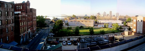 Panorama - Memphis Skyline from Emerge Building by joespake