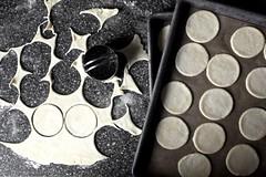 pie crust cookie lids, bases