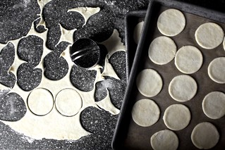 pie crust cookie lids, bases