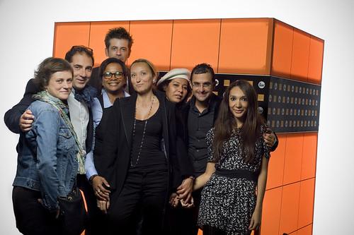 FIAC Paris 2011 - Orange : Catherine Ertzscheid, Christophe Pelletier, Sandrine Joseph, Najett Defrance, David Lacombled, Fadhila Brahimi, Arash Derambarsh, Jalila Levesque by Arash Derambarsh