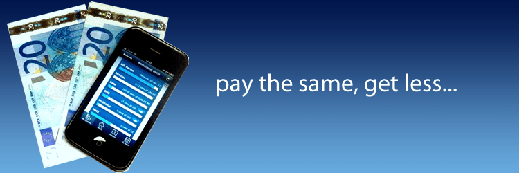 pay the same get less