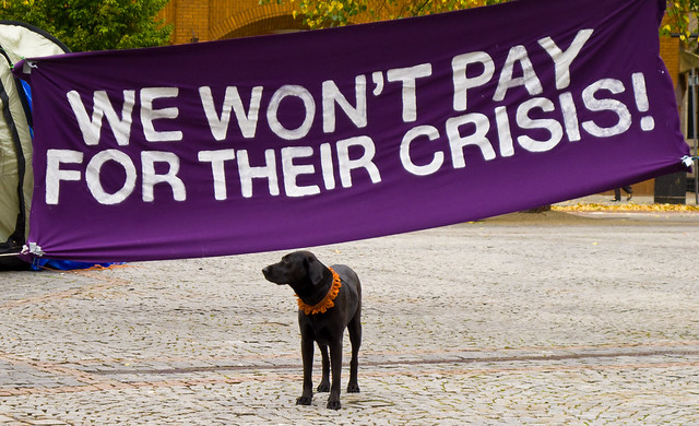 Black Labradors against the cuts!