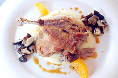 leg of duck confit with citrus segment and boulangere potato. Saveur, Ali Baba Eating House, East Coast Road, Joo Chiat