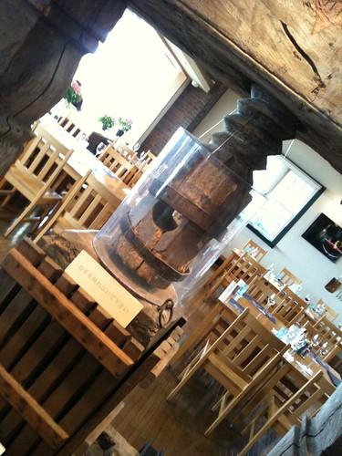 1700年代のワインの絞り機!