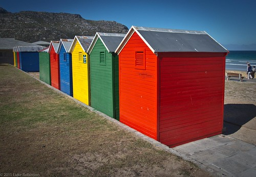 Beach huts at Fish Hoek