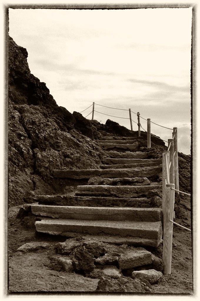 Stairs on Mt. Vesuvius