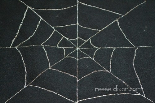 Spiderweb Pillow Step 2