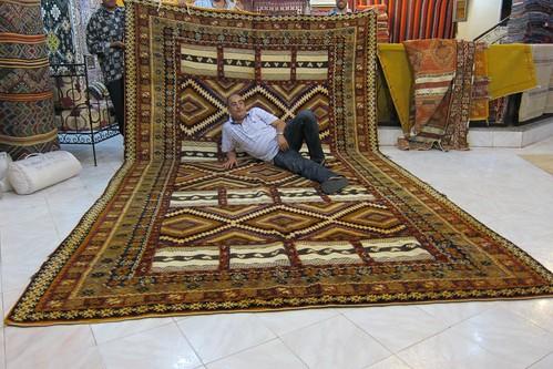 Carpet shop in Marrakech Morocco