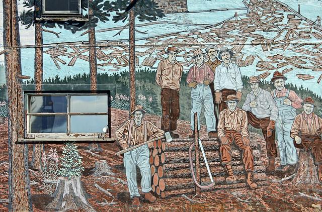 logging mural