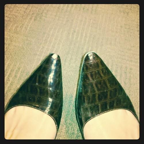 scuffed shoe