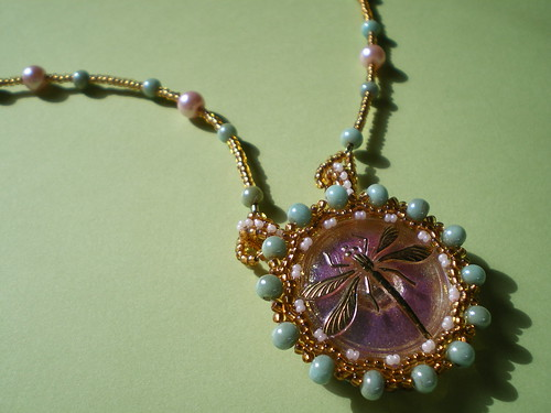 Mucha Butterfly Necklace