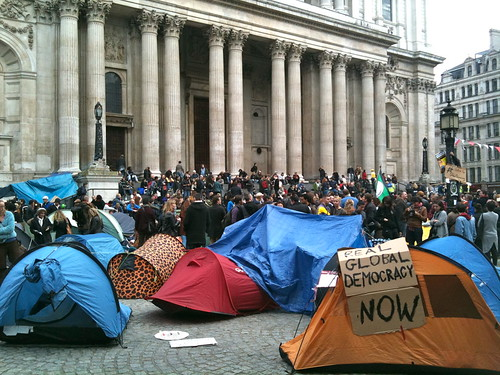 Tents outside St. Paul's Cathedral