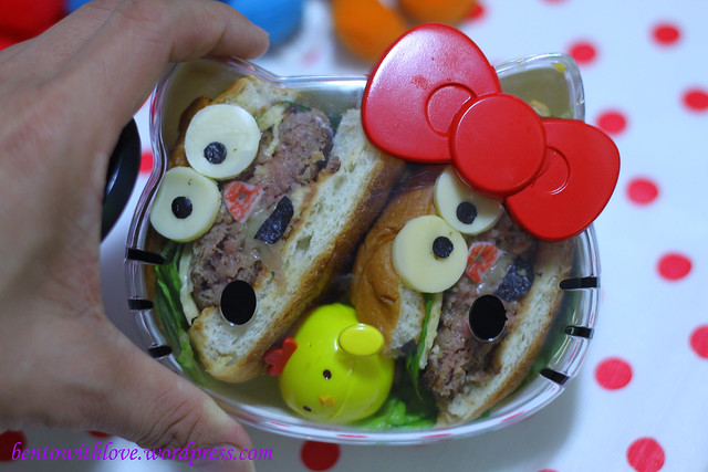 Transparent Cover Hello Kitty Lunchbox