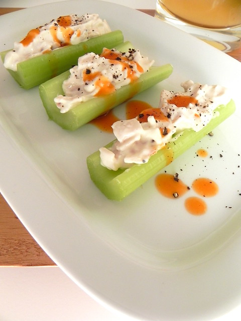 Insta-Party: Buffalo Chicken Celery Sticks with Whiskey Sours