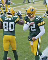 Donald Driver and Aaron Rodgers