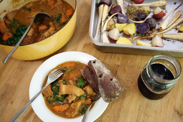 Pork belly stew