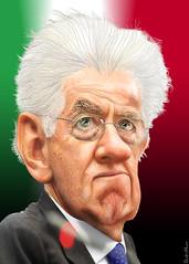 Mario Monti - Caricature