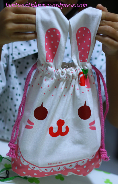 Rabbit lunchbag from gal's BFF's mum :)