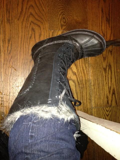 snowtober. new boots.