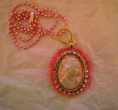 Pretty in Pink altered necklace