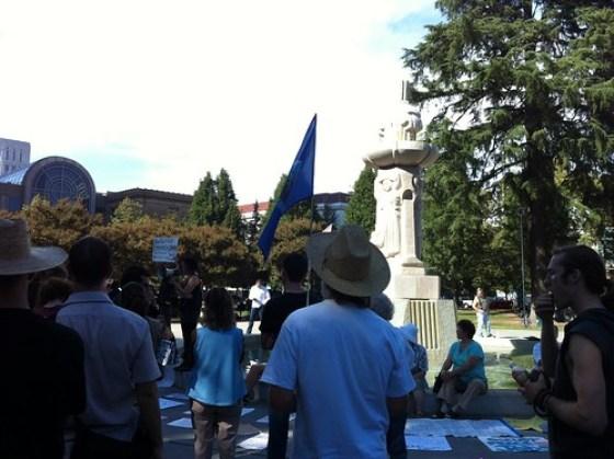 Occupy Sacramento, Cesar Chavez Park 10-15-11