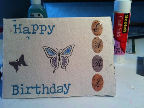 Birthday card for Earl
