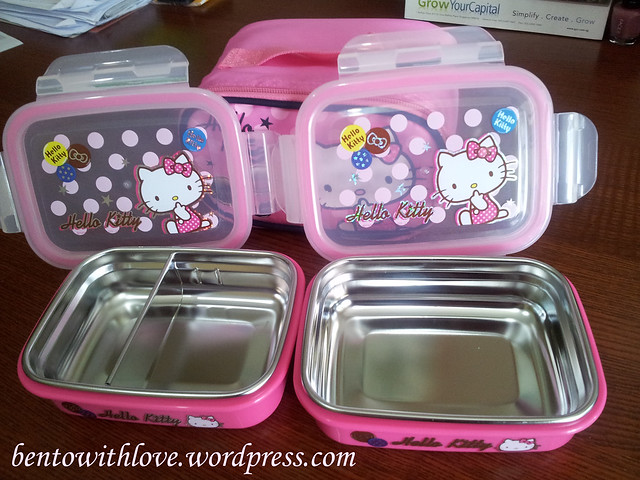 Hello Kitty Stainless Steel Lunchboxes Set