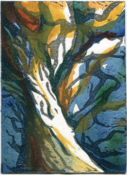 Wild Tree - Print/Watercolor Hybrid by Serendipity Artist