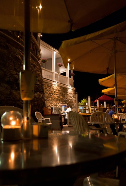 Bar Harbor Inn Restaurant at Night