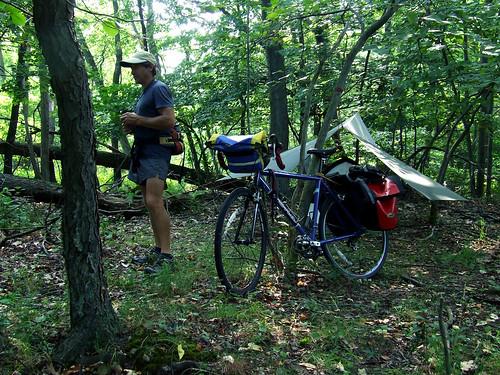 John Davis' campsite in Plummer's Hollow