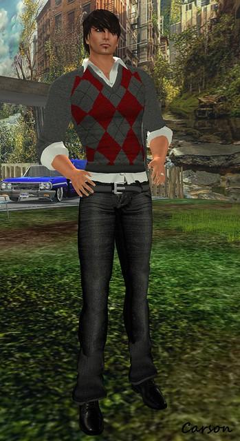 U.N.I. -  Argyle Grey & Red Outfit