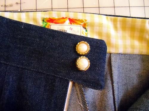 denim shorts - waistband