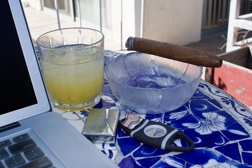 Margarita with a Montecristo back