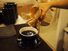 Pouring Ethiopian Yirgacheffe from Chemex, Smitten Coffee & Tea Bar