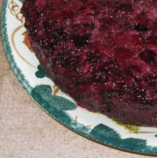 chocolate blackberry upsidedown cake