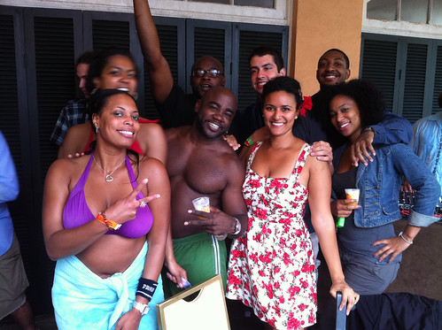 With friends at the Milagro Closing Pool Party