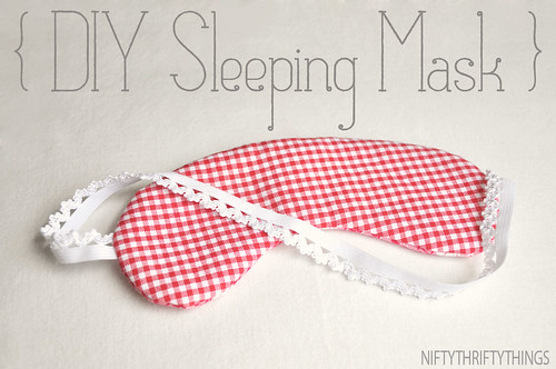 {DIY sleeping mask}
