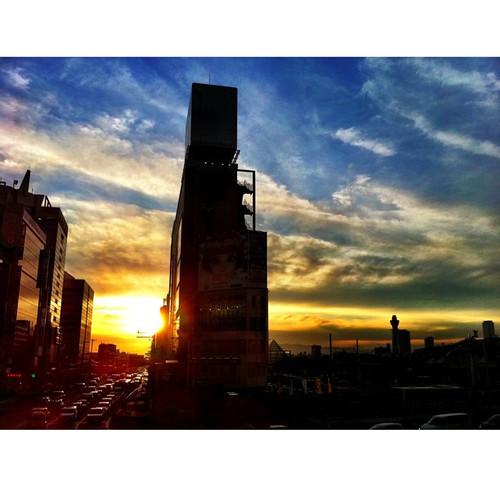明日から夏休みです。今日も一日、お疲れさまでした。( ´ ▽ ` )ノ #sunset #iphonography #instagram