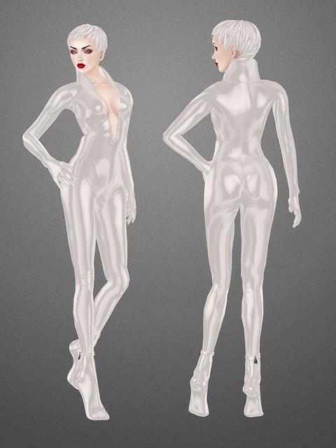 SLink Vixen catsuit: front/back