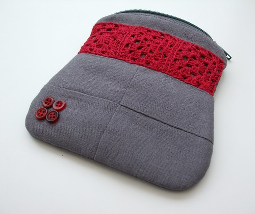 Crochet combo coin purse