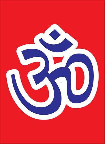 Hindu flag by Karstein Volle