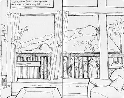 GatlinburgTravel Sketches - Cabin View
