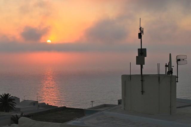 Coucher de soleil à Oia, Santorin, Grèce