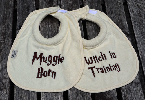 Harry Potter Embroidered Bibs