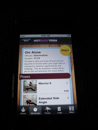 Women's Health Hot Body Yoga app ipod
