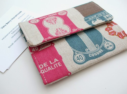 Card wallet - retro haberdashery